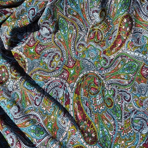 Paisley Print Crepe Jersey