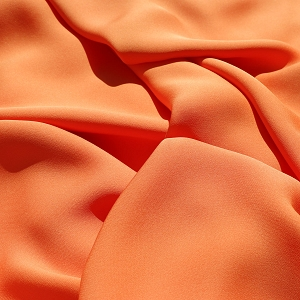 033 Orange Silk Georgette