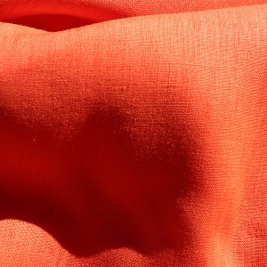 Orange Handkerchief Linen
