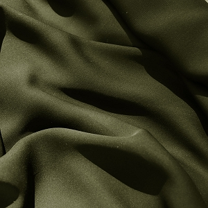 133 Dark Olive Green Silk Georgette