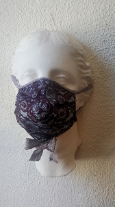 Plum Rose with Metallic Polyester Detailing Mask