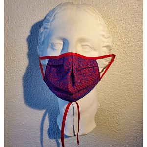 Royal and Red Lace Mask