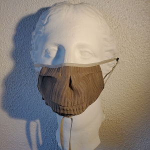 Linen and Silk Sophisticated Jacquard Mask
