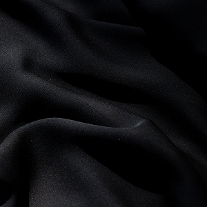 143 Black Silk Georgette