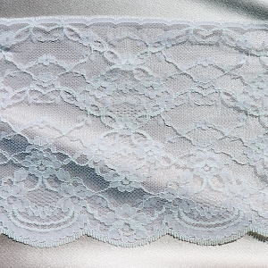 Designer White Edge Lace Trim