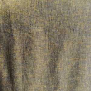Dark Navy and Gold Cross Dye Linen