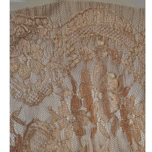 Terra Cotta Chantilly Tier Pattern Lace