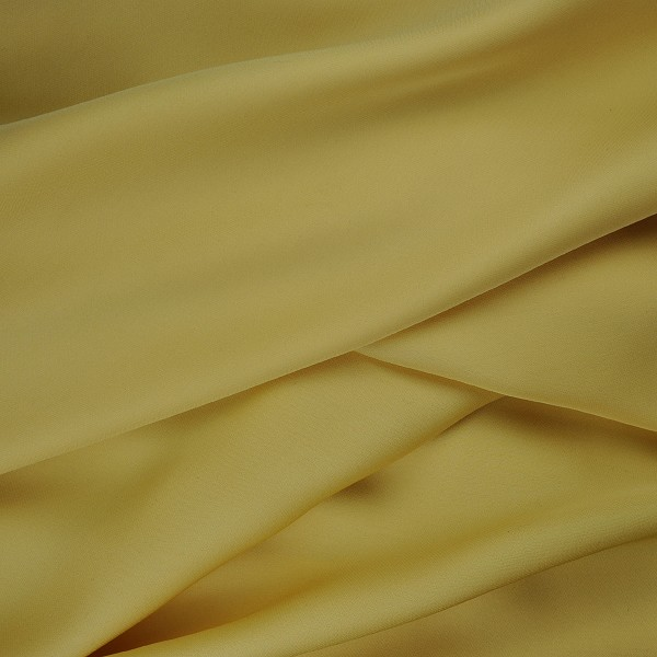 007 Soft Yellow Silk Georgette with Stretch