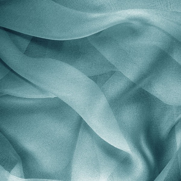 053 Gossamer Silk Chiffon in Adriatic Blue