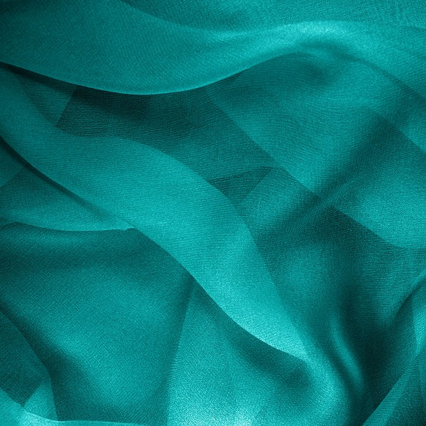 057 Shear Silk Chiffon in Dark Teal or Pacific