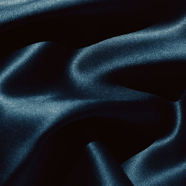 071 Silk Charmeuse Cerulean or Total Eclipse Blue