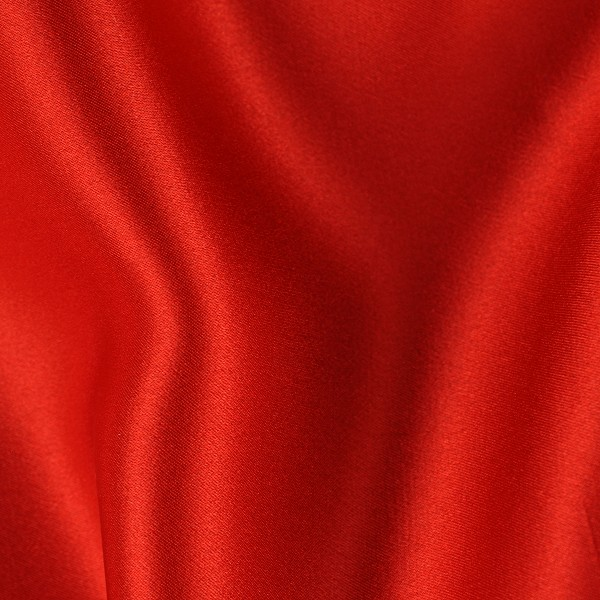 082 Heavy Silk Charmeuse in a Hot Tomato Red Orange