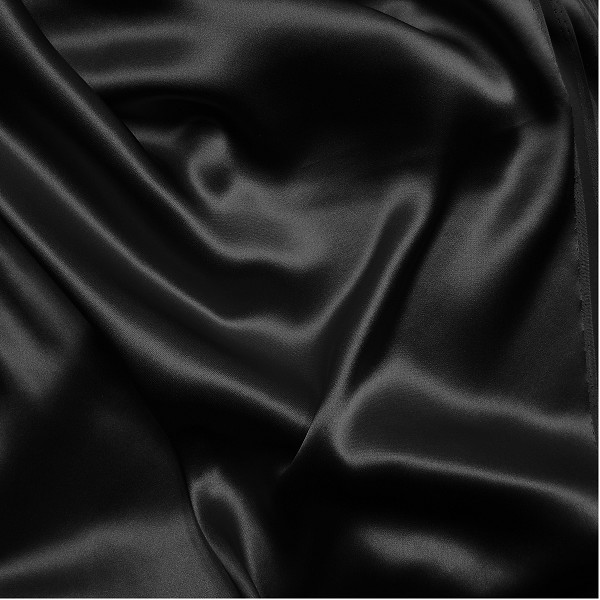 143 Black Silk Heavy Charmeuse