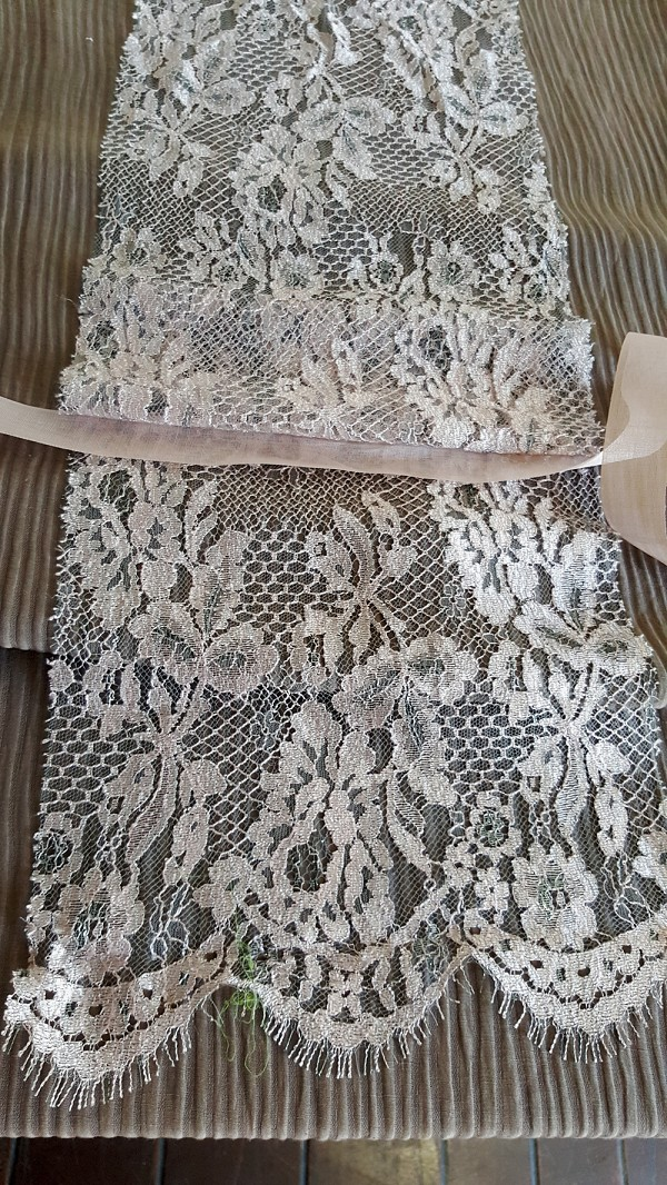 Dusty Pink Lace Stash Piece