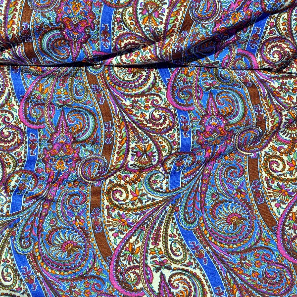 Stripes Softened by Paisley Stretch Jersey